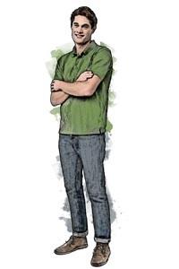 Employee male sketch